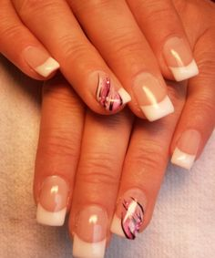 I can see this on whole hand ... Special French Manicure Design