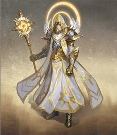 Might&Magic Heroes 7 - Offizielles Artwork - Haven Male Magic Hero