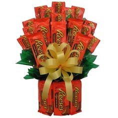 Reeses Candy Gift Bouquet satisfies the taste buds of Reese's candy lovers.