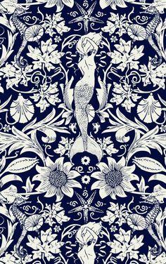 Mermaid wallpaper iphone backgrounds art prints 33 ideas for 2019 Art And Illustration, Textures Patterns, Print Patterns, Fabric Patterns, Inspiration Art, Cool Backgrounds, Iphone Backgrounds, Iphone Wallpapers, Mermaid Art
