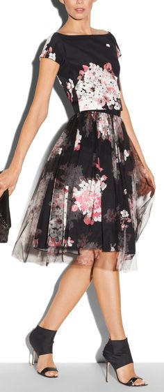 Floral tulle