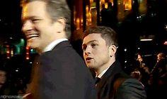 Taron Egerton and Colin Firth