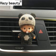 Hazy beauty Panda automobile Outlet perfume clip Diamond Air conditioner mouth clamp Upscale cute Car perfume fragrance