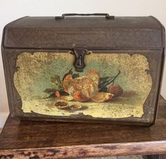 Victorian Metal Lunchbox With Lithograph Of Oranges, Decorative Detail  | eBay