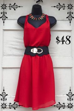 Ready for Ravishing Red Dress?!!! Every girl should own a sassy red dress for when she wants to turn heads! $48. S-M-L P.S. Christmas is coming!!!! — at Zinnias-2-Zebras.