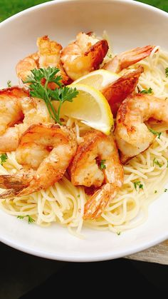 Date Night Shrimp Francese over Angel Hair Pasta Side Dish Recipes, Fish Recipes, Seafood Recipes, Pasta Recipes, Snack Recipes, Dinner Recipes, Shrimp Dishes, Pasta Dishes, Recipes