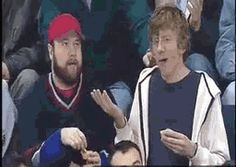 Now THIS is the best kiss cam ever lol! THE GUY'S FACE