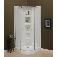 $1326.50 Mirolin - Sorrento 38 Inch Acrylic Round Front Shower Package - SCP38RFW - Home Depot Canada