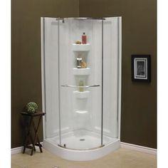 One Piece Corner Shower Stall Units Bathroom Toilet Designs
