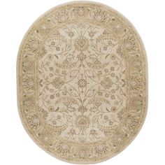 World Menagerie Topaz  Taupe Floral Area Rug Rug Size: Slice 2' x 4'