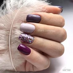 mix and match nail colors mix and match acrylic nails nail designs nail art desi. mix and match nail colors mix and match acrylic nails nail designs nail art designs nails fall nail colors 2019 fall nails 2019 autumn nails co Short Nail Designs, Simple Nail Designs, Nail Art Designs, Nails Design, Best Nail Designs, Gel Manicure Designs, Different Nail Designs, Pretty Nail Colors, Fall Nail Colors