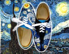 My Shoes inspired by Starry starry night by Vincent Van Gogh