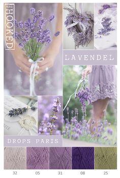 Color inspiration lavender / drops Paris – Growing Lavender Gardening - Growing Plants at Home Yarn Color Combinations, Colour Schemes, Color Trends, Drops Paris, Colour Pallette, Color Balance, Design Seeds, Colour Board, Color Swatches