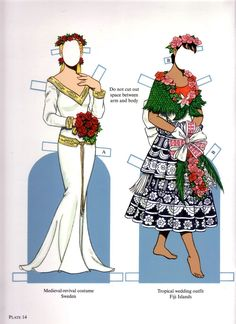 Brides from Around the World Paper Dolls by Tom Tierney, Dover Publications (14 of 16)