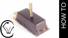 Shiny Chocolate Mirror Glaze Covered Mousse Bars Entremet by Cupcake Sav...