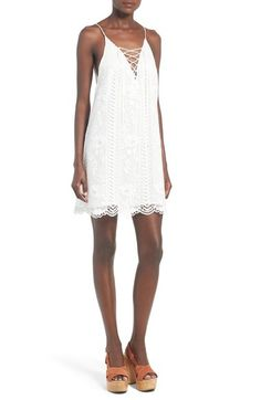 0590aa1089 ASTR Lace-Up Shift Dress available at  Nordstrom Little White Dresses