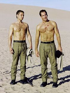 Rewatching Startrek: Enterprise and falling for these guys all over again! Connor Trinneer and Scott Bakula.