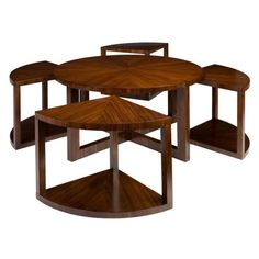 Have to have it. Brownstone Presidio Round Cocktail Table with Stool $1886.00