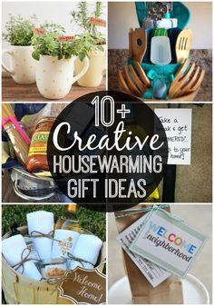 Creative Housewarming Gift Ideas Creative Housewarming Gift Ideas - Happy-Go-Lucky Know someone moving soon? Have new neighbors? You'll love these creative housewarming gift ideas! So many great ideas that you'll want to make a few today. Homemade Housewarming Gifts, Practical Housewarming Gifts, Housewarming Gift Ideas First Home, Housewarming Gift Baskets, First Home Gifts, New Home Gifts, Homemade Gifts, Housewarming Party Favors, First Apartment Gift