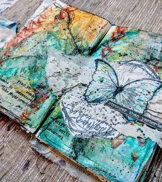 ideas art studio design mixed media for 2019 Art Journal Prompts, Art Journal Techniques, Art Journal Pages, Art Journals, Journal Ideas, Mixed Media Techniques, Creative Journal, Mixed Media Painting, Mixed Media Canvas