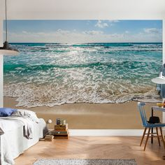 Features: -Printed on vinyl coated paper. -Paste included. -Komar collection. -The wall mural comes with 8 panels. Product Type: -Wall mural. Theme: -Sea/Beach/Nautical. Color: -Blue. Compatib