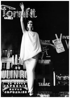 Dorothea in evening gown by Grès, photo by William Klein, Paris, 1960 #EasyNip