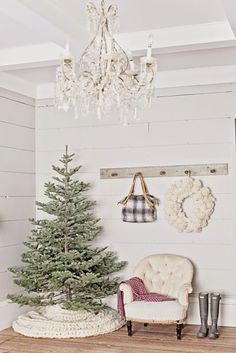 love the tree skirt - large woollen cable knit throw