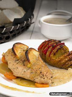 Pechugas de pollo asadas con salsa de manzana - Ole tus fogones