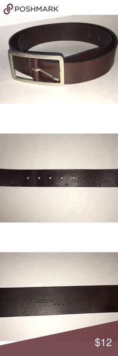 """Banana Republic Brown Leather Belt Ladies Banana Republic brown leather belt with brushed nickel hardware. Genuine leather, style # 401722, Made in Turkey. Size Large, measures 40"""" in length. Please ask any and all questions prior to purchase. Banana Republic Accessories Belts"""