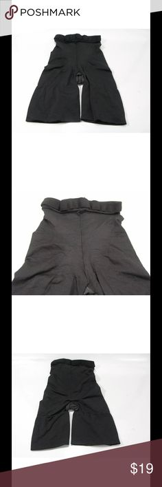 Spanx Shapewear Shorts Mid Thigh Shaper Black Sz A Spanx Shapewear Shaper Shorts Mid Thigh Star Power Black Size A Slimming New Elastic waist shaper shorts Soft material Slims/firms and shapes Size A New without tags, Dept store return. Does not appear to have been worn. SPANX Intimates & Sleepwear Shapewear