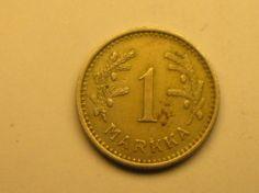 1 markka 1938, R104