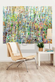 """""""Abstract Forest"""" Abstract Murals That Stick by Angelo Franco for GreenBox Art + Culture 72x54 $189"""