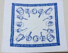 Vintage STARTEX Towel Anthro Coffee Pots & Pans by unclebunkstrunk