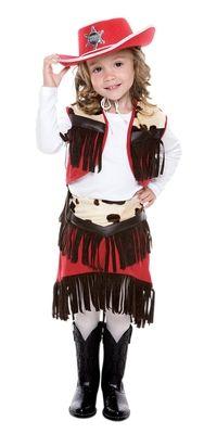 Cowgirl Costume - Girls Fringed Cowpoke Combination