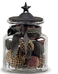 black star medium glass jar - Decorative Glass Jars