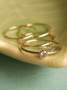 Petite Diamond Ring by kateszabone on Etsy