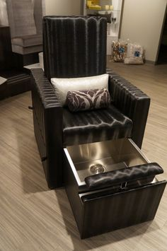 Introducing the new Bold & Beautiful Monique Pedicure Chair with Tuck-away Pedicure Sink by Michele Pelafas, Inc.