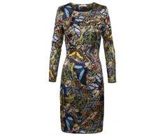 Dressfactor F-line jurk zijde vlinder print