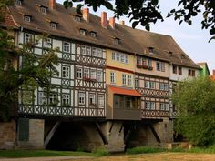 The fairy tale–like Krämerbrücke, or Merchant's Bridge, is a bit of European history preserved in modern day #Germany.