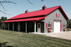 Notes: Hobby shop with entertainment area features: roof pitch, Clopay · Round PenTools . Pole Barn House Plans, Barn Garage, Pole Barn Homes, Barn Plans, Pole Barns, Metal House Plans, Shop Buildings, Metal Buildings, Outdoor Buildings
