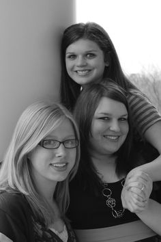 All three granddaughters at one time!!  Corinne, Darby and Megan!!  Gotta LOVE it!!