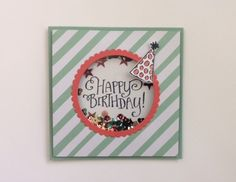 CYCI138, Birthday shaker card using Stampin' Up!'s Better Together stamp set, It's My Party DSP, and Layering Circles framelits. Visit karensstampingpage.wordpress.com