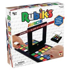 Rubik's Race is a fast-paced, highly competitive game for two players – shake the mini cube, slide the Rubik's tiles and be the first player to match the pattern. It's the ultimate head-to-head brain challenge! For 2 players ages 7 and up. Puzzle Board Games, Online Puzzle Games, Board Games For Kids, Online Games, Kids Online, Brain Teaser Games, Brain Games, Shake, Gaming
