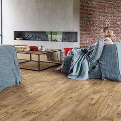Quickstep Livyn Balance Vintage Chestnut Natural Vinyl Flooringvinyl Flooring Oak Effect Floor Tiles Aquaguard Flooring, Luxury Vinyl Flooring, Luxury Vinyl Tile, Basement Flooring, Living Room Flooring, Bedroom Flooring, Flooring Ideas, Flooring Options, Contemporary Country Home