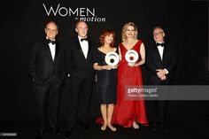 Pierre Lescaut, Francois Henry Pinault, Susan Sarandon, Geena Davis and Thierry Fremeaux attend the Award Ceremony during Kering And Cannes Festival Official Dinner At The 69th Cannes Film Festival at Place de la Castre on May 15, 2016 in Cannes, France.
