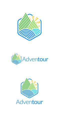 2634176 Like Save Landscape Hexagon Logo Typo Logo, Logo Branding, Branding Design, Landscaping Logo, Hexagon Logo, Plant Logos, Event Logo, Mountain Logos, Lighting Logo