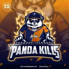Game Logo Design, Esports Logo, Youtube Logo, Mascot Design, Logo Inspiration, Mammals, Panda, Cartoon Head, Cool Designs