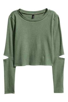 Crop top van tricot