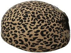 be0521061cd online shopping for San Diego Hat Company Women s Wool Felt Leopad Beret Hat  Feather Bow from top store. See new offer for San Diego Hat Company Women s  ...