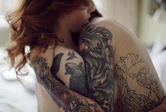 #tattoo #tattoos #tattooed #tatoo girl #sleeve #full sleeve #ginger #red head